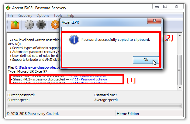 Find your password with AccentEPR and copy it to clipboard with one click