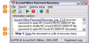 Office password recovery Screenshot